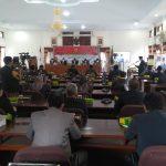 DPRD Pemalang menggelar Paripurna serah terima jabatan dari Plh Bupati M Arifin kepada Bupati Terpilih Mukti Agung Wibowo (Abimanyu)