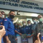 Ketum Demokrat Agus Harimurti Yudhoyono di Kantor Kemenkumham